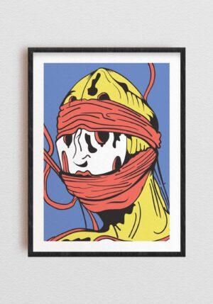 Maska Autorski plakat graficzny