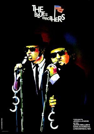 plakat blues brothers, miroslaw lakomski