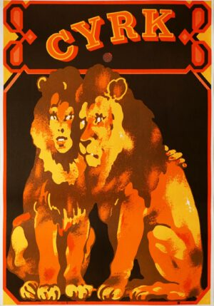 plakat cyrk para lwow, waldemar swierzy