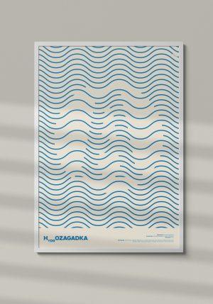 """Plakat """"Hydrozagadka"""" - Mirek Gurzyński"""
