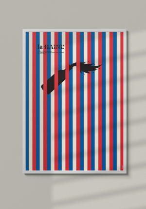 """Plakat """"La Haine"""" - Mirek Gurzyński"""