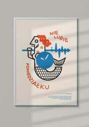 """Plakat """"Nie lubię poniedziałki"""" - Mirek Gurzyński"""