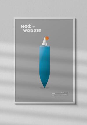 """Plakat """"Nóż w wodzie"""" - Mirek Gurzyński"""